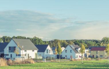 Idyllische Neubau-Siedlung