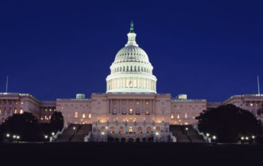 The Capitol at nighttime