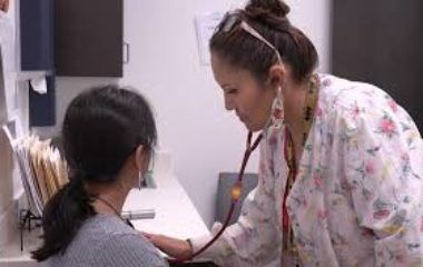 Nurse with earring